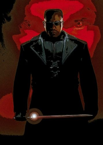 1990's Movie - BLADE - POSTERIZED ART canvas print - self adhesive poster - photo print